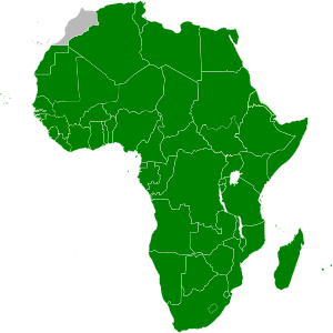 Map of the African Union